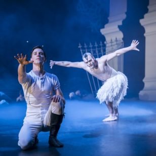 Dominic North as The Prince and Will Bozier as The Swan - Photo by Johan Persson