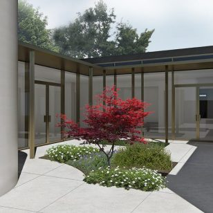 Artist Impression of the garden inside Woodland House at Birmingham Women's Hospital