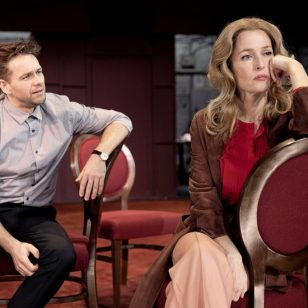 Julian Ovenden and Gillian Anderson in All About Eve Photography by Jan Versweyveld