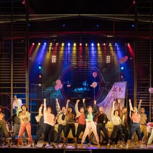 The cast of the UK and Ireland tour of GREASE, photo by Manuel Harlan