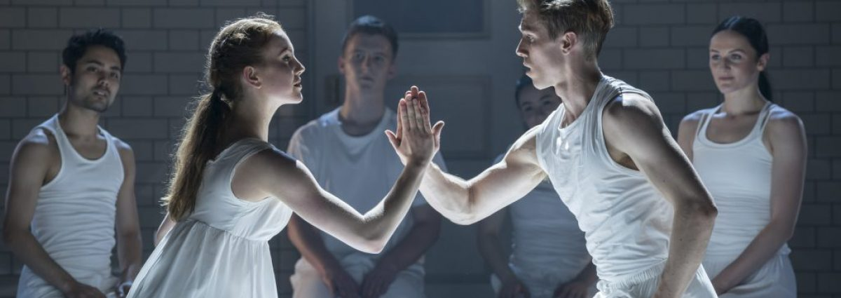 Matthew Bourne's ROMEO AND JULIET. Seren Williams 'Juliet' and Andrew Monaghan 'Romeo' and The Company. Photo by Johan Persson