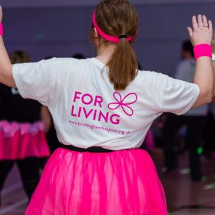One dancer shows her support for Birmingham St Mary's Hospice photo by Aaron Scott Richards