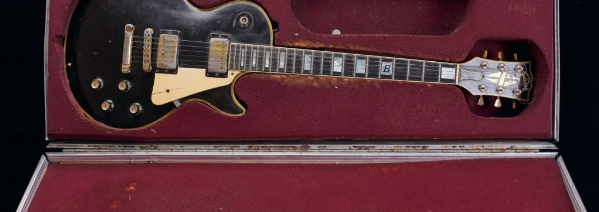 Custom Gibson Les Paul Electric Guitar and Case, 1976 - played by Basil Gabbidon of Steel Pulse - Birmingham Museums Trust